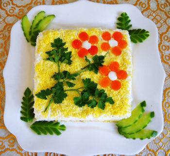 как украсить салат крабовый фото