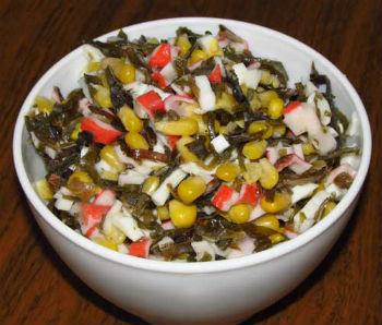 рецепт салата из морской капусты консервированной