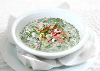 Фруктовая окрошка на белом квасе – кулинарный рецепт