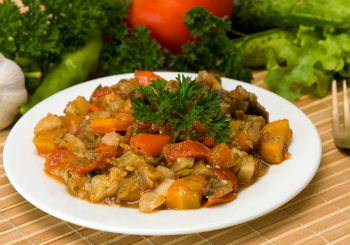 Рецепт рагу из овощей в казане