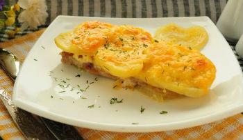 фото рецепт мясо по французски с картошкой