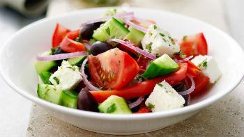 Рецепт греческого салата с грибами