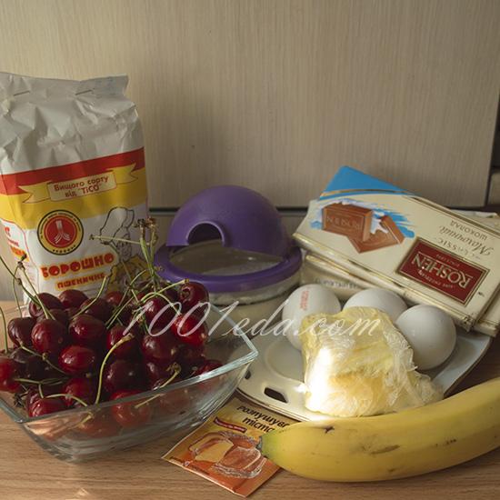Лепешки с черешней и шоколадом – кулинарный рецепт