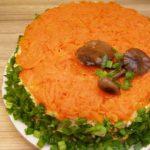 Салат с курицей «Грибное лукошко»