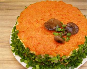 Рецепт салата «Грибное лукошко»