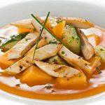 Салат с дыней и курицей