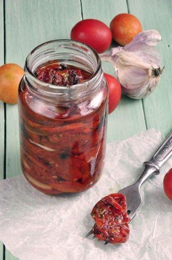 Рецепт заготовки на зиму вяленые помидоры в микроволновке