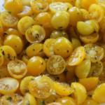 Желтые помидоры дольками на зиму