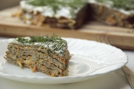 Закусочный торт с гусиной печенью – кулинарный рецепт