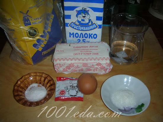 Замес дрожжевого теста для узбекских лепешек