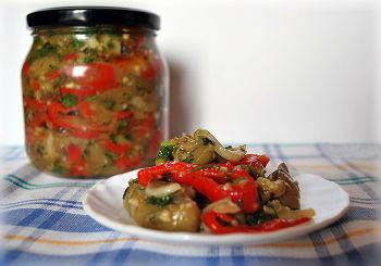 Овощной салат закрутка
