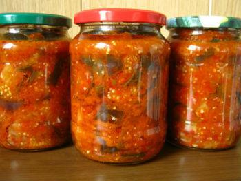 салаты на зиму из помидор рецепты самый вкусный #14