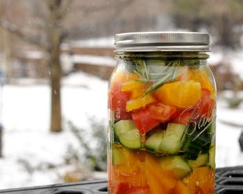 Заготовка на зиму салат из огурцов и