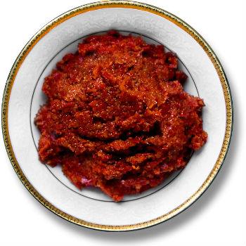 Рецепт аджики абхазской с кукурузной мукой