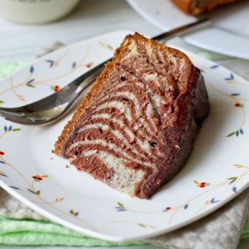 Пирог зебра в мультиварке пирог