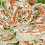 Бутерброды в лаваше с красной рыбой