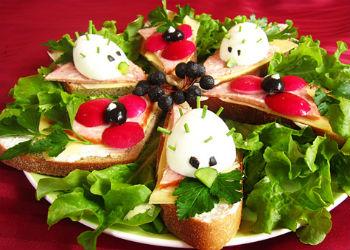 как приготовить бутерброды ёжики