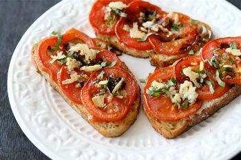рецепт бутербродов с памидороми