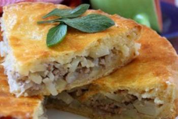 Рецепт пирога с фаршем и картошкой