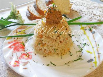 Быстрый плов с морепродуктами и базиликом, пошаговый рецепт с фото