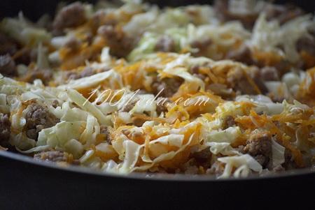Рецепт ленивых голубцов в сковороде