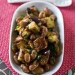 Салат из баклажан с фасолью на зиму