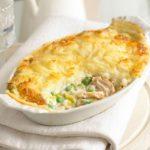 Картофельная шарлотка с курицей и сыром пармезан