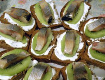 Рецепт бутербродов из киви