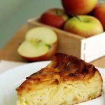 Воздушная шарлотка с яблоками на кефире