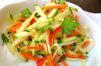 как приготовить салат из кабачков свежих рецепты