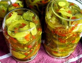 рецепт заготовки салата из огурцов с горчицей