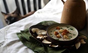 Суп-капучино из белых грибов и шампиньонов – кулинарный рецепт