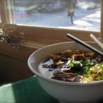 Суп-лапша с сушеными грибами