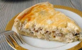 заливной пирог с курицей и грибами рецепт с фото