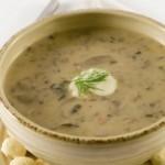 Грибной суп из опят с овсяными хлопьями