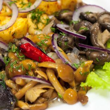 рецепты слоеных салатов с опятами
