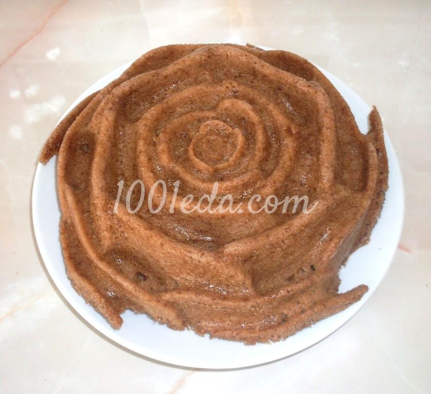 Кекс с какао в силиконовой форме