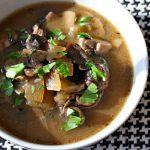 Грибной суп из сухих грибов в мультиварке