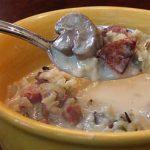 Грибной суп с колбасой