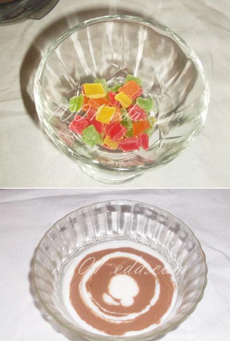 Сметанный десерт с фруктами рецепт с фотографиями