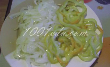 Свиные отбивные с запеченными овощами и яблочным соусом, пошаговый рецепт с фото