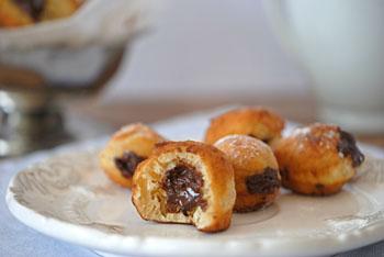 Пончики из творога с начинкой