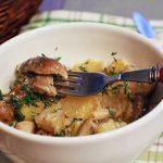 Белые грибы жаренные с картошкой