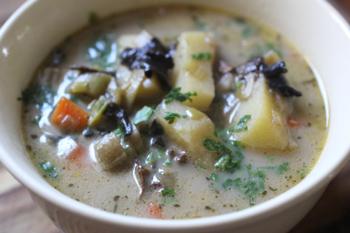 рецепт грибного супа с плавленным сыром из сушеных грибов