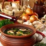 Грибной суп из шампиньонов в горшочках