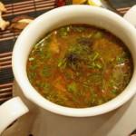 Грибной суп из опят с помидорами