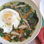 Грибной суп из свежих грибов с яйцом