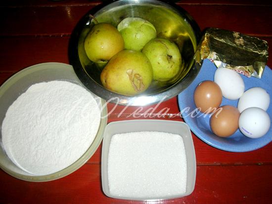 рецепт шарлотки с грушами в мультиварке редмонд