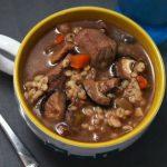 Грибной суп из вешенок с говядиной