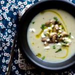 Картофельный суп-пюре с грибами и сыром